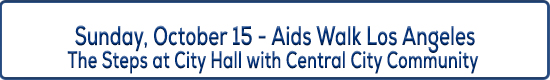 Image Title Sunday October 15 - Aids Walk Los Angeles at the Steps of City Hall with Central City Community
