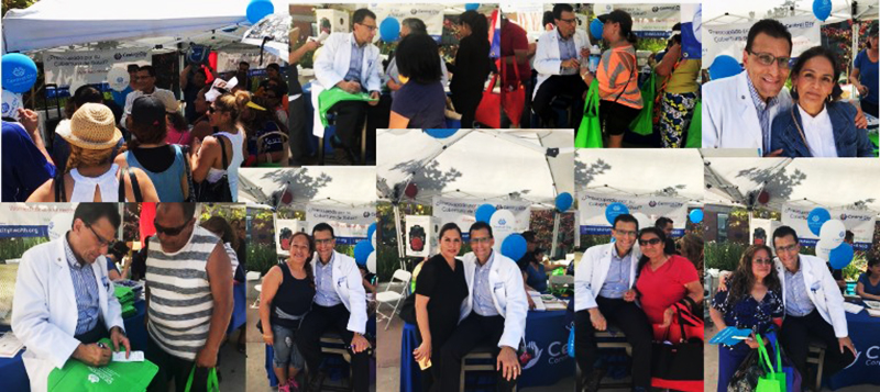 Central City Community Health Center staff at the Baldwin Park Event