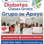 Image of Diabetes Classes at Central City Community Baldwin Park Health Center - coming to other CCCH centers soon - flyer shows classes start September 13