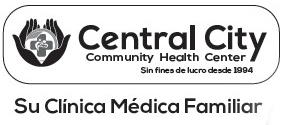 Image of Title wording with Logo - Central City Community Health Center - Sin fines de lucro desde 1994 - Su Clinica Medica Familiar