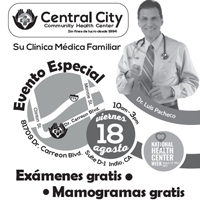 Small button Image to show Indio Event with Central City for National Health Center Week