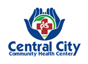 Logo image with open hands - Central City Community Health Center