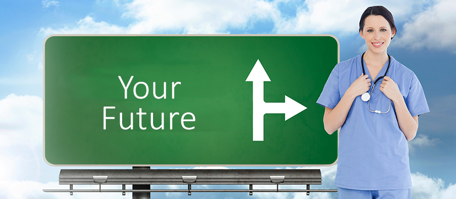 Image - Your Future on a sign pointing to Medical Personnel on Careers Tab at Central City Community Health Centers