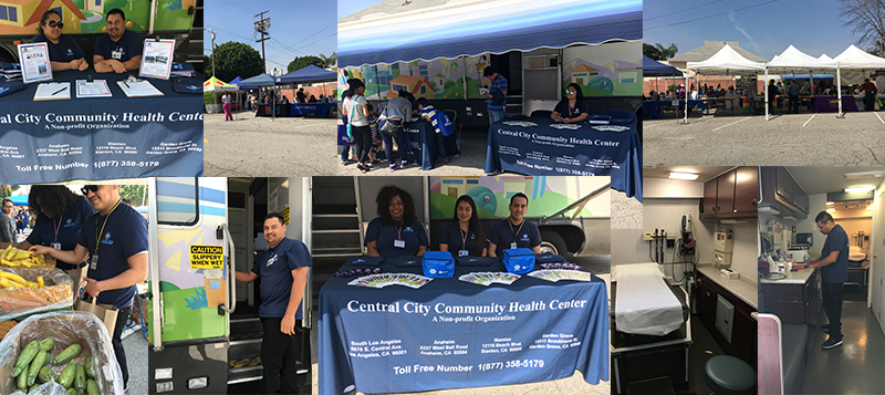 Image of our event showing Central City Community Health at the Pico Union Event