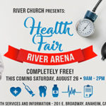 This is a small image of flyer from River Church Presents Health Fair