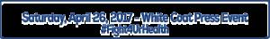 Image Title: Saturday, April 26, 2017 - White Coat Press Event #Fight4UrHealth