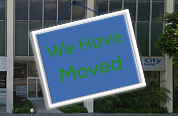 image of LA Downtown Clinic with a We Have Moved sign to show LA Downtown is moving and temporary services are at South LA