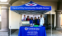 Image of Central City Staff at Baldwin Parks first Pop Up Event