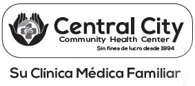 Image of Title wording with Logo - Central City Community Health Center - Sin fines de lucro desde 1994 - Su Clinica Medica Familiar
