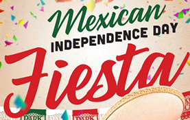 Image Icon to advertize Mexican Independence Fiesta