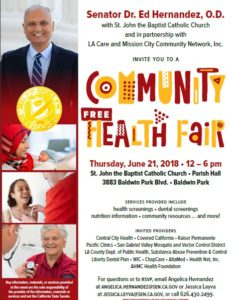 Image for Community Free Health Fair on June 21 from 12pm to 6pm