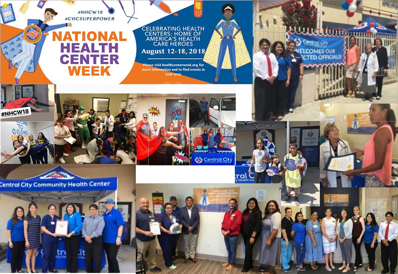 Collage images of CCCHC celebrating Community Health Center Week
