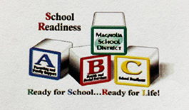 ABC Magnolia school health event image for school readiness wtih ABC blocks Magnolia School District