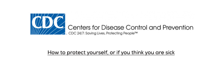 CDC Logo and link to information at CDC on Coronavirus