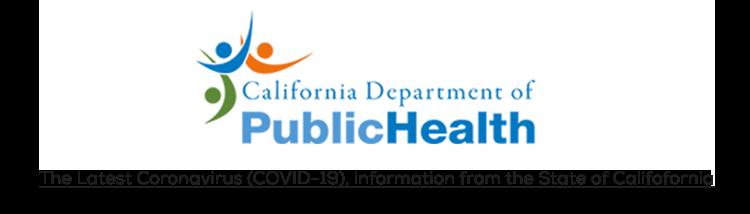 California Department of Public Health Logo to link to information on Coronavirus